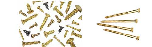 Brass material machined screw