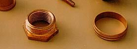 Copper fittings Copper components india Copper parts bushes plugs